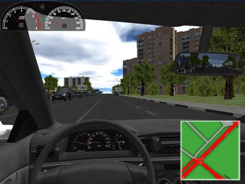 Учебный 3d Симулятор City Car Driving скачать