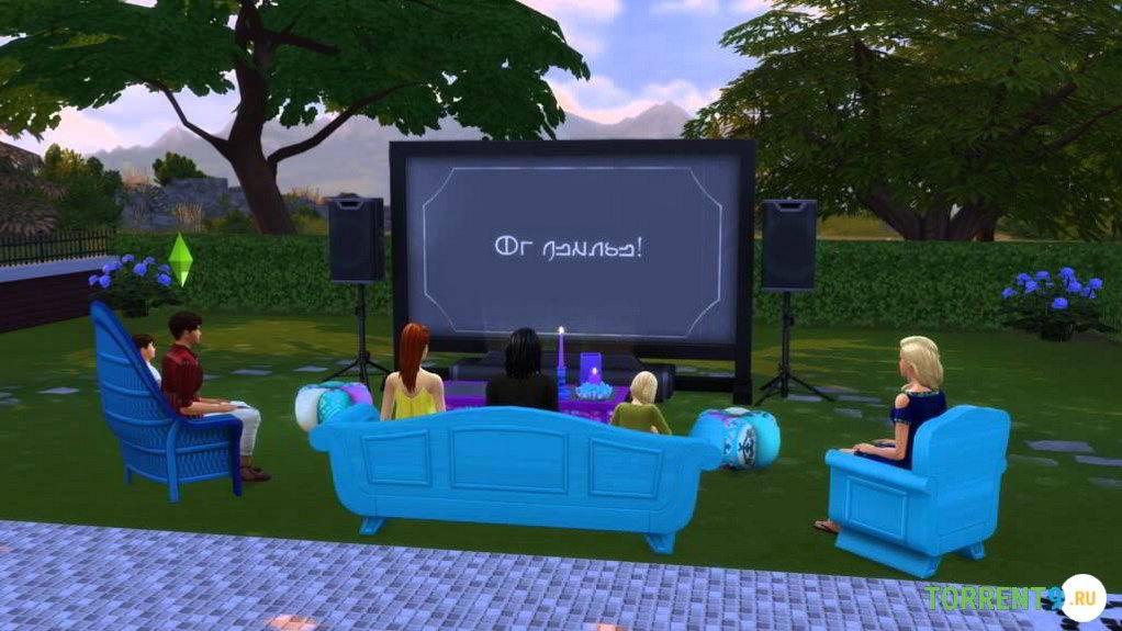 симс 4 домашний кинотеатр и романтический сад скачать